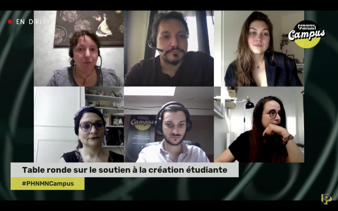 Table ronde sur le soutien à la création étudiante