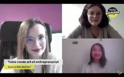 Table ronde art et entrepreneuriat avec le BDA Bizz'Art