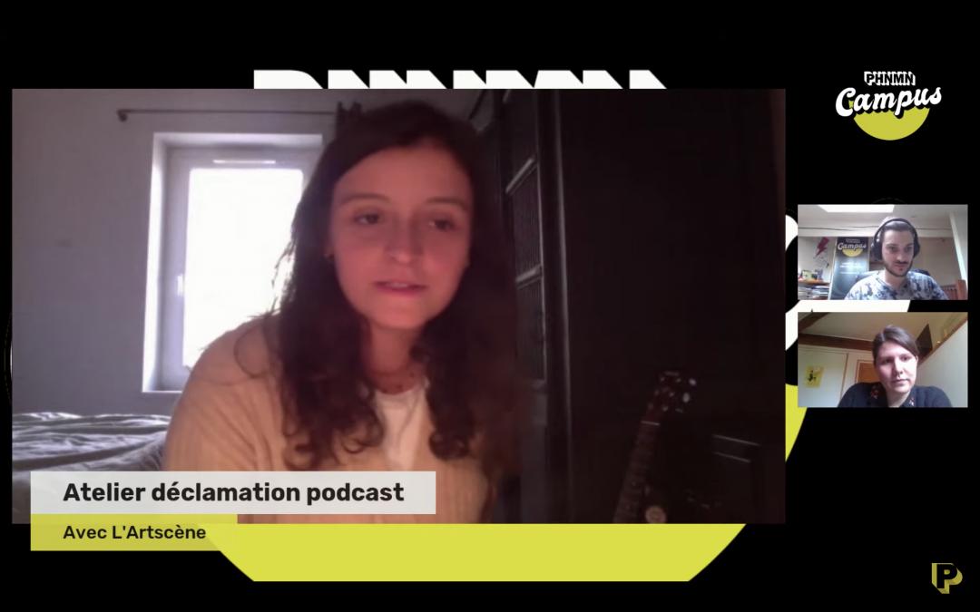 Atelier déclamations & podcasts avec L'Artscène