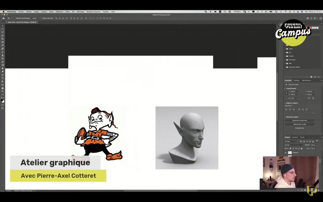 Atelier graphique avec Pierre-Axel Cotteret